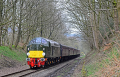 40013 at Summerseat. (curly42) Tags: 40013 class40 whistler englishelectric elr railway 40sat60 transport preserveddieselloco eastlancashirerailway