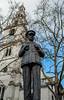 Sir Hugh Dowding Statue - RAF Church (St Clements Danes 1682 ) Strand (Fujifilm X100F) (markdbaynham) Tags: fuji fujifilm fujista x100f fujix transx fujix100f apsc fixedlens primelens compact london londonist londoner capital capitalcity gb uk centrallondon urban metropolis