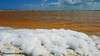 Rio Lagartos - Messico (johnfranky_t) Tags: rio lagartos messico yucatan johnfranky t salina golfo del mexico nuvole arancione cielo azzurro schiuma onde samsung s7