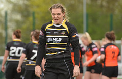 Smiling Through The Pain (Feversham Media) Tags: yorkcityknightsladiesrlfc castlefordtigerswomenrlfc amateurrugbyleague northyorkshire yorkshire rugbyleague york womenssuperleague sportsaction yorkstjohnuniversity natcarr