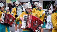 Accordion player St.Patricks Day Parade Liverpool. (James- Burke) Tags: stpatricksdayparade girl bands accordion artists liverpool musicians accordionplayer performer parades merseyside colours