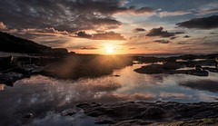 Sunset at Murder Hill...xx (shona.2) Tags: footballtraining gullane beach sands murderhill eastlothian scotland water reflection rock pools sea sun clouds sky