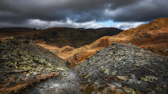 The Quarry...Rhosydd. North Wales. (Einir Wyn Leigh) Tags: landscape country contrast wales light easter walking slate quarry outside world nikon industry rural rugged sky weather path golden uk