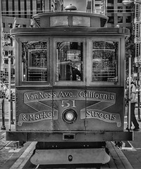 Cable Car - San Francisco, CA (vwcampin) Tags: iphoneography iphoneographer iphoneology iphonology historic vannessave downtown marketstreet marketst blackandwhite california sanfrancisco trolley cablecar