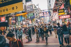 Yau Ma Tei! (]vincent[) Tags: hk hong kong china asia vincent people portrait girl beautiful ginger red head sony rx 100 mk iv canon 50 mm kowloon mongkok market street neon moko