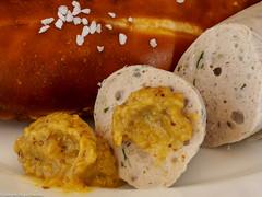 Macro Monday #Condiment (Mustard & Salt) (J.Weyerhäuser) Tags: macromonday hmm condiment mustard salt senf wurst saussage weiswurst bavarianspecialty laugenbrezel süssersenf