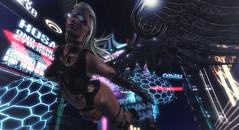 I'll heal you (Dragonlila) Tags: heal angel cyber cyberpunk fly wings lights night future