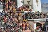 Riot of color (tmeallen) Tags: spitukgompa geluppamonks yellowhatlamas gustorfestival crowds localpeople traditionalattire buddhistmonastery leh ladakh jammuandkashmir india culture
