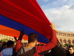 Tenth day of the demonstration (Alexanyan) Tags: yerevan armenia demonstration meeting flag armenian youth students republic square protest president government armenie hayastan capital city սերժ սարգսյան serzh sargsyan