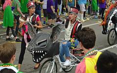 Bat Bike (BKHagar *Kim*) Tags: bkhagar mardigras neworleans nola la celebration parade people outdoor street napoleon uptown kreweoftucks tucks bicycle creature animal kolossos
