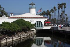 Santa Barbara (davidjamesbindon) Tags: town america states united usa california barbara santa lighthouse street pond palm trees building