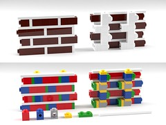 Brick Wall Technique (aukbricks) Tags: lego technique brick wall brickwall computerrendering