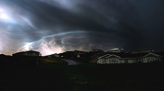 From Iceland. (Tóta. 27.12.1964.) Tags: natureiceland clouds sky houses grass borgarfjörður iceland ísland