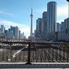 City Square (Tomitheos) Tags: cntower toronto citysquare cube march2018 bridge fence gateway industrial traintracks