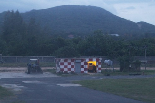 Blockhouse beside the runway at Samui Airport