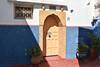 Dar Zarafa in Blue Town, Rabat (meg21210) Tags: house dar darzarafa bluetown rabat morocco golddoor sheepheadornaments doorway number27 door blue pots plants
