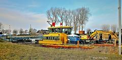 Ship,Groningen Stad ,the Netherlands,Europe (Aheroy) Tags: thomasvanseeratt schip boat ship canal kanaal kerstvloed binnenvaart brug bridge boot geel yellow