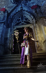 Fotocon 2017: Arshania Cosplay's Human Mage from Diablo III, by SpirosK photography: Without effects (SpirosK photography) Tags: arshaniacosplay fotocon2017 human mage diablo3 spiroskphotography humanmage cosplay fotocon fotoconbytechland spells magic portrait church steps stairs entrance strobist nikon