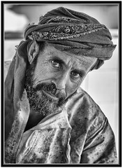 """Omani Fisherman"" (flavius200) Tags: omam men bedu flavius200 dorking photocraft camera club fishing woman bedouin arabia desert sand scrub mountain mono monochrome black white nikon d200 d3x d800 d800e wilfred thesiger desolate isolated uae 4x4 camping alone traveller exploring tribes david harford morning evening night market"