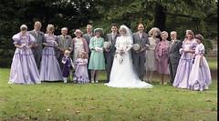 Wedding guests (vintage ladies) Tags: wedding 80s 80swedding pike kettering 3181985 bride we weddingdress brideandgroom groom