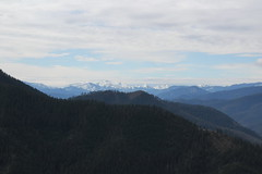View towards the Red Buttes, looking white this time of year (rozoneill) Tags: east applegate ridge trail jacksonville sterling ditch jack ash siskiyou mountains foothills ruch valley hiking oregon views