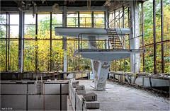 The Pripyat Swimming Pool (Aad P.) Tags: chernobyl чорнобиль pripyat припять ukraine україна sovietunion cccp nuclearpowerplant radioactivity radiation urbex urbexphotography exclusionzone sportscenter swimmingpool