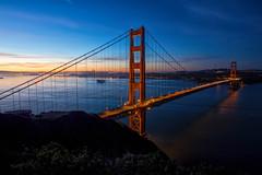 Golden Gate Bridge at Sunrise (SPP - Photography) Tags: usa batteryspencer costal bridge sigma pacificocean bay battery city cityscape canon goldengatebridge sigmaart sigma20mm114dgart lights california bayarea skyscraper ocean sanfrancisco 6d tower bridges eos6d sunrise costline coastline ruggedcoast pacificcoast coast