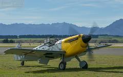 Buchon on alpine holiday (errolgc) Tags: aviation bf109 hispanoaviaciónha1112m1lbuchongbwue newzealand wanaka warbirdsoverwanaka2018