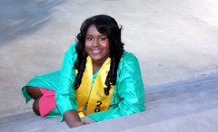 2018 Graduate (1) (McKenzie's Photography) Tags: girl female young lady woman graduation graduate outdoor outside school senior stairs robe glass window pane glitter sparkle celebrate downtown dallas texas tx usa