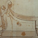 PRIMATICE - Triptyque, Deux Hommes dans un Bateau antique (drawing, dessin, disegno-Louvre INV8575) - Detail 03
