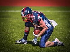 Pilsen Patriots (Jan Hutter) Tags: pilsenpatriots praguelionspilsen action americanfotball ball contact czechrepublic man menssport outdoor sport spring tackle touchdown bitters riddell schtutt linebacker quarterback