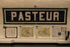 422 - Pasteur (kosmekosme) Tags: pasteur louispasteur metro publictransport public travel travelling city capital paris france underground map maps citymap bricks brick dustbin pasteurization medicine d7000