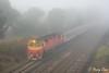 Pea Souper Pass (Henry's Railway Gallery) Tags: n473 nclass emd diesel clyde vline passengertrain wandong albury 8605