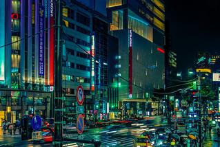 Rainy night over Ginza