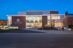 West Elevation 02 (Michael Muraz Photography) Tags: 2016 canada gta northamerica on ontario sac standrewscollege toronto world architecture aurora bluehour building college commercial dusk exterior highschool twilight ca
