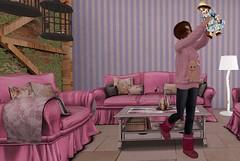 Secret Lives: Episode 64:Thursday 4/19/2018 (Teddi Beres) Tags: second life sl secret lives soap opera drama melodrama mystery intrigue doll supernatural living room furniture interior design laq danger happy