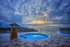 (133/17) Piscina para niños (Pablo Arias) Tags: pabloarias photoshop photomatix capturenxd españa cielo nubes arquitectura piscina mar agua mediterráneo hotel almiranteferragut ciudadela menorca
