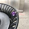 Touch of Color (TheMachineStops) Tags: 2018 outdoor nyc newyorkcity manhattan concrete trashcan garbagecan lock combinationlock masterlock dial shackle purple metal padlock iphone8