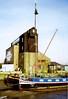 Battlesbridge, December 1992 (Linda 2409) Tags: barges battlesbridgeantiquescentre essex