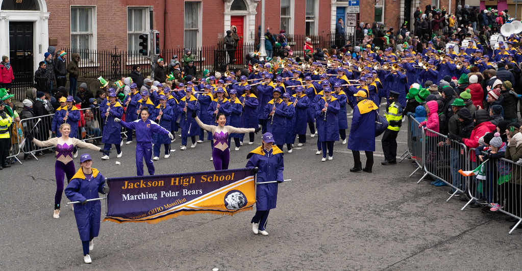 Jackson High School - Purple Army Marching Band [Dublin Patricks Day Parade 2018]-137624