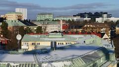 Solna, Sweden (skumroffe) Tags: arenastaden råsunda solna sweden stockholm rooftops takåsar roofs tak buildings byggnader vattenfall telia mallofscandinavia mos