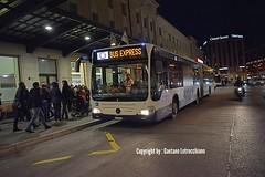 Autobus Mercedes Citaro 0530G n°1124 pour le salon de l'auto 2018. Copyright by : Gaetano Lotrecchiano (gaetanolotrecchiano1) Tags: autobus mercedes citaro 0530g 1100 1124 service de bus express salon auto 2018 17mars2018 transportspublics genève bleu blanc orange routes
