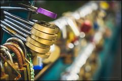 Love locks to infinity (G. Postlethwaite esq.) Tags: bakewell dof derbyshire macro sonya7mkii beyondbokeh bokeh closeup depthoffield lovelock mirrorless padlocks photoborder selectivefocus town