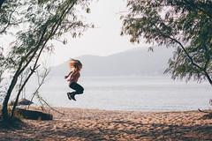 Jump jump! (]vincent[) Tags: hk hong kong china asia canon 50 mm sony rx 100 mk iv girl self ginger beautiful portrait people bicycle cheung chau trip island sea blue sun ocean dusk