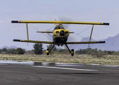 Biplane Head On and Low (dcnelson1898) Tags: maranaregionalairport marana arizona aviation airplane airplanes runway radialengine pittss2s biplane buckroetman