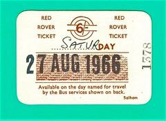 1966 London transport Red Rover bus ticket. (Ledlon89) Tags: redrover red rover ticket bus buses lt lte londontransport londonbus londonbuses busticket travel londontravel busrides 1960s 1966 permit transport london ride