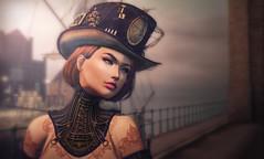 Wrinkle in Time... (Kacey Macbeths) Tags: secondlife beautiful woman portrait steampunk eudora rosal maitreya catwa