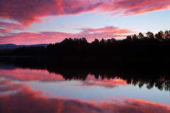 Reflecting Over Sunset || NEPEAN RIVER || NSW (rhyspope) Tags: australia aussie nsw new south wales canon 5d mkii sunrise sunset silhouette rhys pope rhyspope trees yarramundi nepean hawkesbury river reflection sky cloud color colour mirror pink purple red blue black