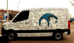 streetart (wojofoto) Tags: ndsm amsterdam nederland netherland holland graffiti streetart wojofoto wolfgangjosten mercedes transporter sprinter millo