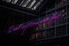 St. Pancras   Tracey Emin (James_Beard) Tags: traceyemin stpancras london terminus iwantmytimewithyou lightwork lightinstallation installation fuji fujixt2 fujixf56mm